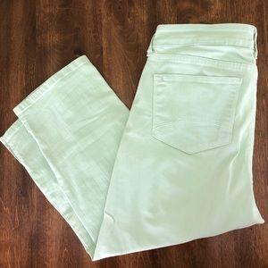 NYDJ Mint Denim Crop Jeans Size 10